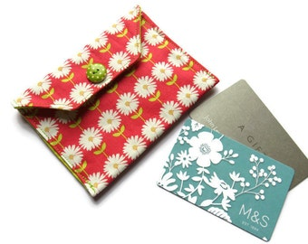 Fabric Gift Card Wallet - Fabric Case for Cards - Business Card Wallet - Gift Wallet for Jewellery - Card Case - Jewellery Gift Bag
