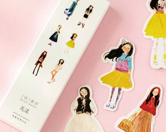 Girl Bookmarks Paper Ephemera Scrapbooking Supplies
