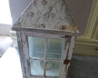 Terrarium, Vintage French wooden, Shabby, Cottage Chic, 1980's