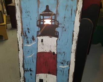 Rustic Lighthouse - vintage nautical decor