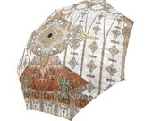 haute couture- Large  umbrella- Rain and sun- customizable-mandala 9-Handpainted design