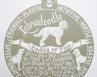 Labradoodle Print