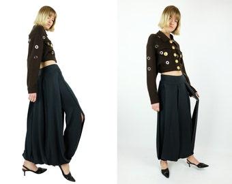 KAAT TILLEY Vintage Chunky Fringe Maxi Skirt Silk Blend