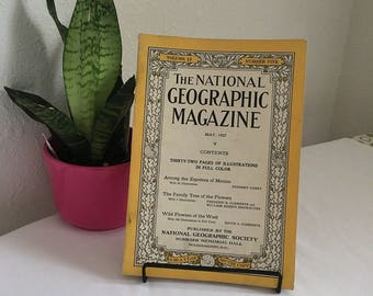 Vintage Magazine, May 1927, National Geographic, free shipping US & Canada