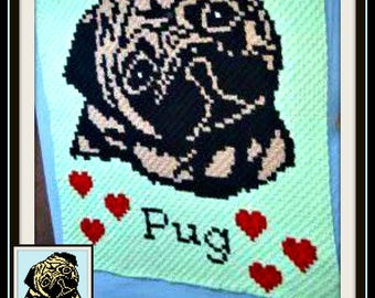 Pug Afghan, C2C Graph with Written Word Chart
