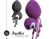spider AGATHA • music box toy, mobile, baby rattle • lalylala crochet pattern
