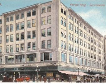 Vintage Postcard....California, Sacramento- Forum Building...Unused...no. CA0015