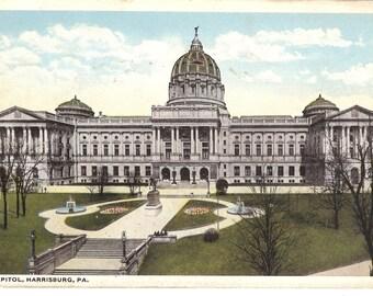 Vintage Postcard....Pennsylvania, Harrisburg, The Capitol...Used....no. PA0013