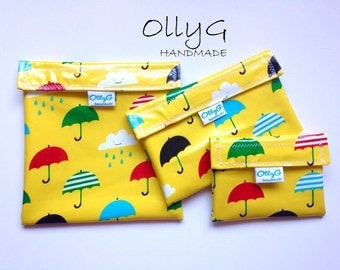 Umbrellas - FOOD SAFE - Re-Useable Sandwich snack bags