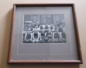 1915 University of Montana Basketball Team Photograph,Framed