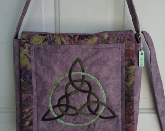 Purse/ Shoulder Bag / Quilted Celtic Knot Purse / Hand Made