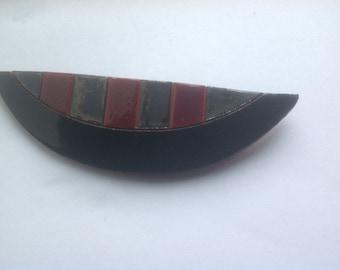 Vintage modernist ceramic Icelandic Iceland brooch pin