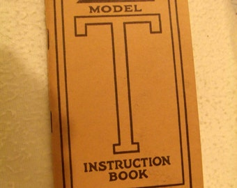 Ford Model T Instruction Book
