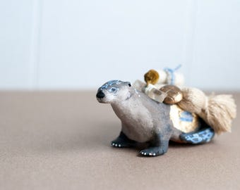 Sacred Animal Sculpture- The Carrier of Calm and Comfort: The River Otter