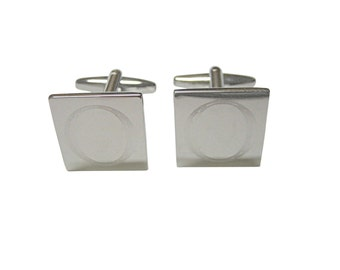 Letter O Etched Monogram Cufflinks