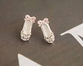Ballet Dance Slippers Earrings