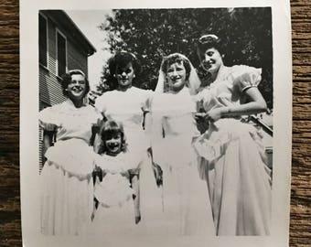 Original Vintage Photograph Bridal Girls