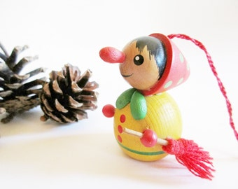 German Vintage Wooden Steinbach Witch  Ornament Made in Germany Erzgebirge Hohenhameln