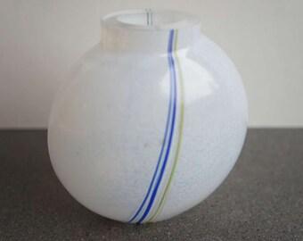 Bertil Vallien Rainbow Vase Kosta Boda Sweden Model 48223 Swedish Mid Century Modern