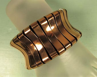 Copper Cuff Bracelet - MCM Mid Century Modern Chunky Wide