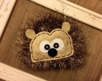 Hedgehog crochet hat, photo prop