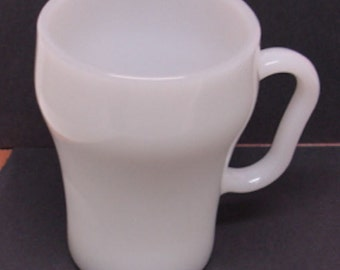 Fire king Coca Cola Style Milk glass Coffee Cup Mug Coke Mug 1970s