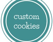 Custom Fleur de lis cookies