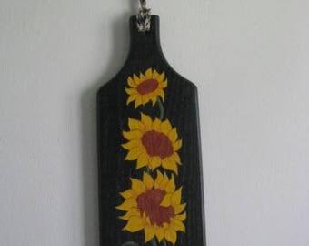 Sunflower breadboard, breadboard, handpainted, summertime, fall, wall decor,