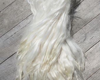 "White Suri Alpaca Locks ""Suzie"""