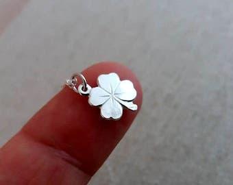 Four Leaf Clover Necklace, Sterling Silver Necklace, Silver Clover, St Patrick Day Jewelry, Sterling Silver Irish Shamrock Pendant