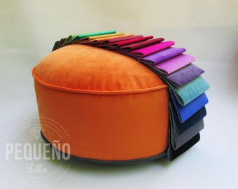 Pouf Poof, Ottoman, Home Decor, Pillow, Floor cushion Floor Puff upholstery fabric