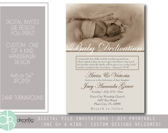 Baby dedication invitation | Etsy