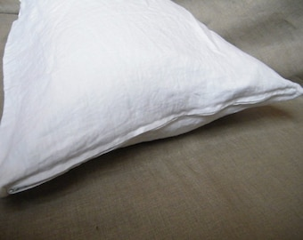 Body pillow case /cover/ sham - Pure flax linen - OPTIC WHITE