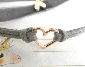 Gray Heart Choker