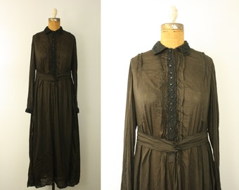 1910s dress | vintage edwardian mourning dress