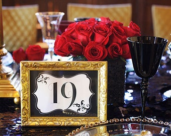 Unique black and white Table Number for Wedding/ Birthday/ table number/ wedding table decor/ wedding decoration/ quinceanera