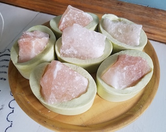 Bucket of Margaritas-Cold Process Salt Bar-Salt Soap with Virgin Coconut Oil & Pink Himalayan Salt-