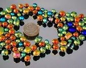 Mosaic Itsy Bits & Pieces, Small Dichroic Tiles, Tiny Mosaic Tiles, Mosaic Glass Tiles, Jewelry Accent Pieces