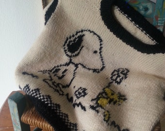 Vintage SNOOPY and WOODSTOCK Childrens Sweater