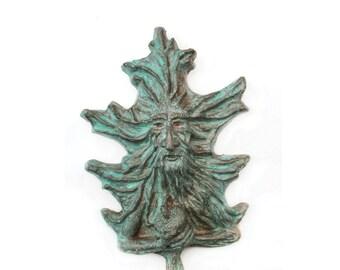 Oak tree spirit, Oak Man, Oak Faun.  Wonderful cast stone Mystical gardian of the scared oaks.   Druids regard the oak as a holy tree
