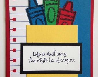 Stampin' UP! Box of Crayons Card Kit