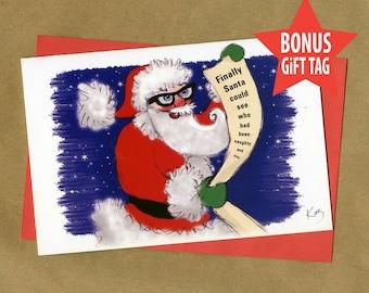 Geeky Christmas Card Etsy