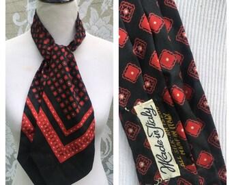 Italian silk vintage necktie scarf