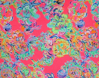 ISLAND SEACRET Twill cotton   2017 9 X 18 or 18 X 18 inches ~Lilly Pulitzer~