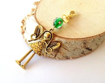 Angel keychain gold. Guardian Angel keychain. Protecting angel keychain. Keychain angel. Bridesmaid gift. Wedding gift. Linnepin010