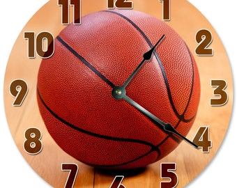 "BASKETBALL CLOCK - Large 10.5"" Wall Clock - 2091"
