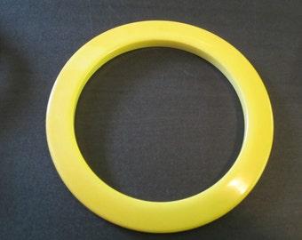 Yellow Bakelite Bangle