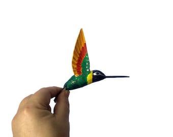 paper machè art bird sculpture hummingbird ornaments bird