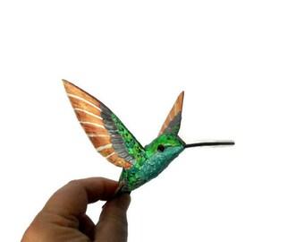 Paper mache  culpture Hummingbird Art Decoration bird