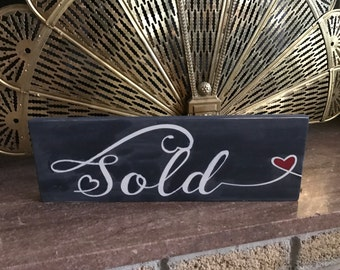 sold realtor sign brokers home decor staging prop distressed new home buyer photo prop 6x18
